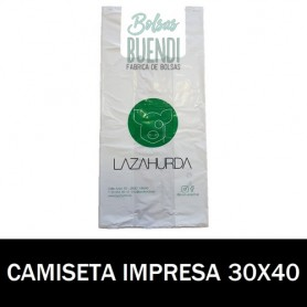 BOLSAS ASA CAMISETA IMPRESAS 30X40 G.70