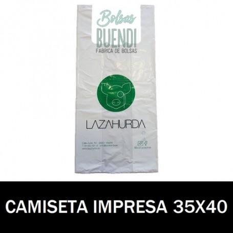 BOLSAS DE PLASTICO CAMISETA IMPRESAS 35X40 G.70