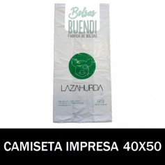 BOLSAS DE PLASTICO ASA CAMISETA IMPRESAS 40X50 G.200