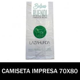 BOLSAS DE PLASTICO ASA CAMISETA IMPRESAS 70X80 G.200