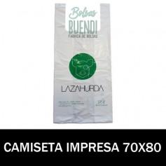 BOLSAS DE PLASTICO CAMISETA IMPRESAS 70X80 G.70