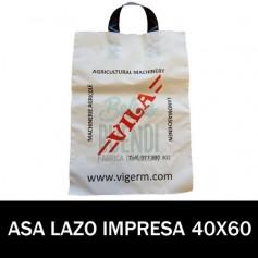 BOLSAS DE PLASTICO ASA DE LAZO IMPRESAS 40X60 G.200