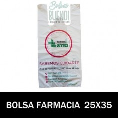 BOLSAS DE FARMACIA PERSONALIZADA SOBRE (25x35)
