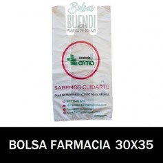 BOLSAS DE FARMACIA PERSONALIZADA SOBRE (30x35)