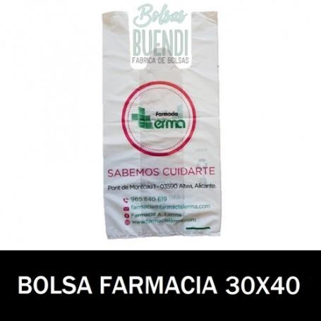 BOLSAS DE FARMACIA PERSONALIZADA SOBRE (30x40)