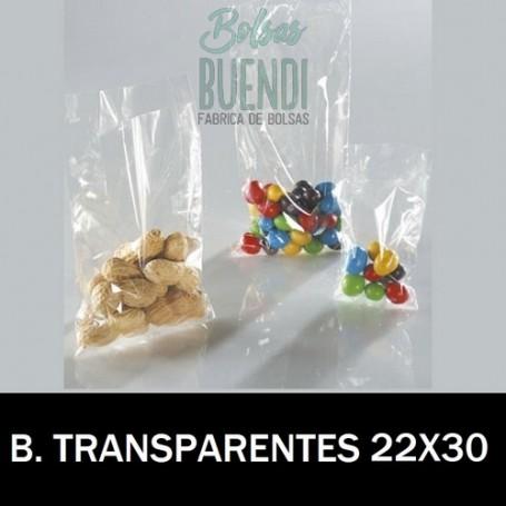 BOLSAS DE PLASTICO TRANSPARENTES 22X30