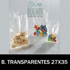 BOLSAS DE PLASTICO TRANSPARENTES 27X35