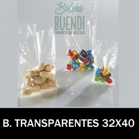 BOLSAS DE PLASTICO TRANSPARENTES 32X40