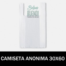 BOLSAS DE PLASTICO CAMISETA ANONIMAS 30X60 G.70