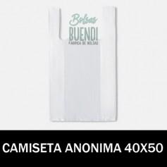 BOLSAS DE PLASTICO CAMISETA ANONIMAS 40X50 G.200