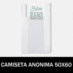 BOLSAS DE PLASTICO CAMISETA ANONIMAS 50X60 G.70