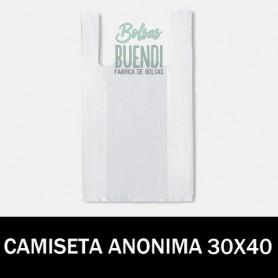 BOLSAS DE PLASTICO CAMISETA ANONIMAS 30X40 G.70