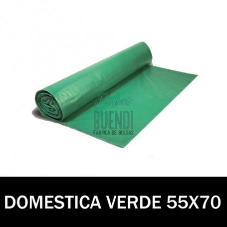 BOLSAS DE BASURA ASA VERDE 55X70 20 SERV G.80