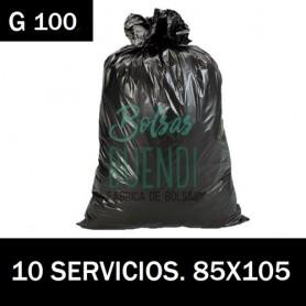 BOLSAS DE BASURA NEGRA INDUSTRIALES 85X105 10 SERV G.100