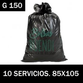 BOLSAS DE BASURA NEGRA INDUSTRUIAL 85x105 10 SERV G.150