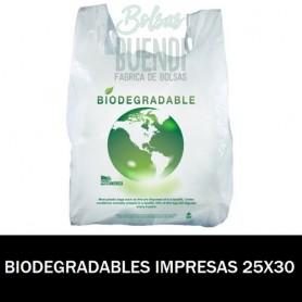 BOLSAS BIODEGRADABLES CAMISETA IMPRESAS 25X30