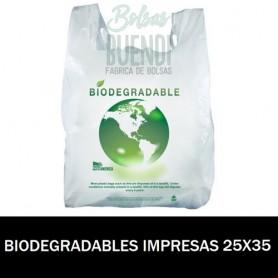 BOLSAS BIODEGRADABLES CAMISETA IMPRESAS 25X35