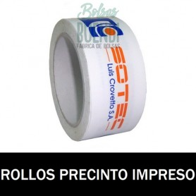ROLLOS DE PRECINTO IMPRESO 48X66 12 CAJAS OFERTA