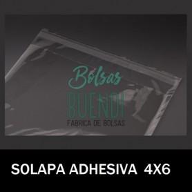 BOLSAS DE PLASTICO CON SOLAPA ADHESIVA 3X17
