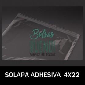 BOLSAS POLIPROPILENO CON SOLAPA ADHESIVA 4X22