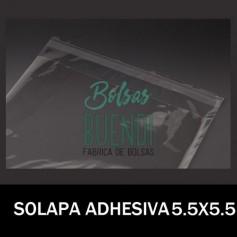 BOLSAS DE PLASTICO CON SOLAPA ADHESIVA 5.5X5.5