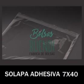 BOLSAS POLIPROPILENO CON SOLAPA ADHESIVA 7X40