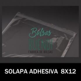 BOLSAS POLIPROPILENO CON SOLAPA ADHESIVA 8X12