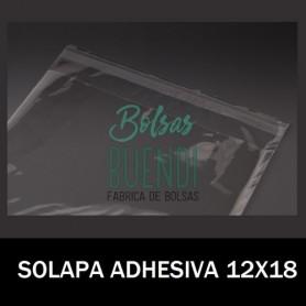 BOLSAS POLIPROPILENO CON SOLAPA ADHESIVA 12X18