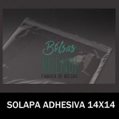 BOLSAS POLIPROPILENO CON SOLAPA ADHESIVA 14X14
