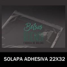 BOLSAS POLIPROPILENO CON SOLAPA ADHESIVA 22X32
