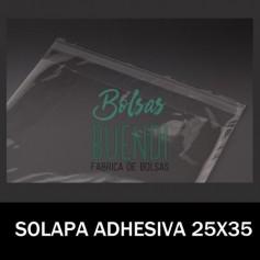 BOLSAS POLIPROPILENO CON SOLAPA ADHESIVA 25X35