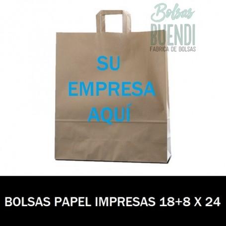 BOLSAS DE PAPEL IMPRESAS 18+8X24