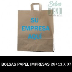 BOLSAS DE PAPEL IMPRESAS 28+11 X 37