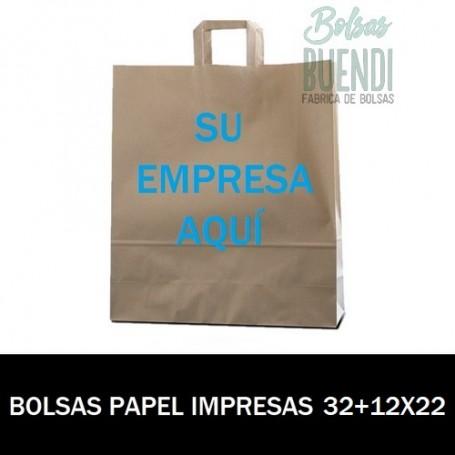 BOLSAS DE PAPEL IMPRESAS 32+12 X 22