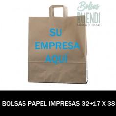 BOLSAS DE PAPEL IMPRESAS 32+17 X 38