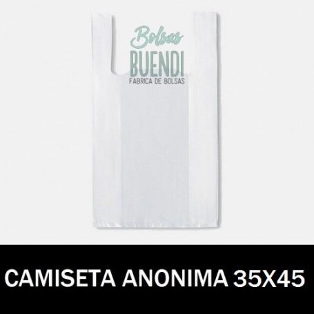 BOLSAS DE PLASTICO CAMISETA ANONIMAS 35X40 G.200