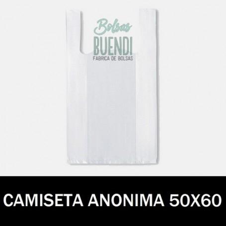 BOLSAS DE PLASTICO CAMISETA ANONIMAS 50X60 G.200