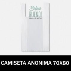 BOLSAS DE PLASTICO CAMISETA ANONIMAS 70X80 G.70