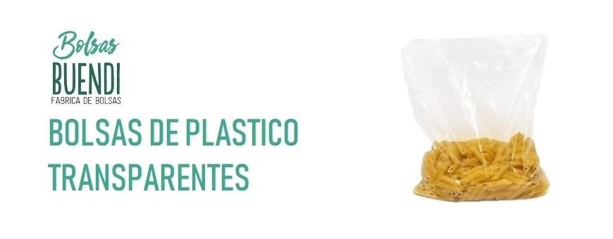BOLSAS DE PLÁSTICO TRANSPARENTES