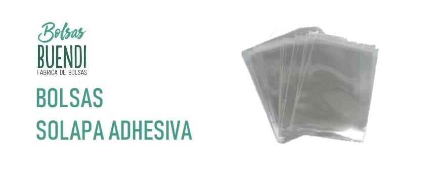 BOLSAS DE PLASTICO CON SOLAPA ADHESIVA