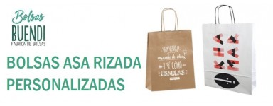 BOLSAS DE PAPEL ASA RIZADA PERSONALIZADAS